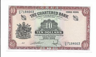 Hong Kong, The Chartered Bank - $10, nd (1962-70). Choice Unc.