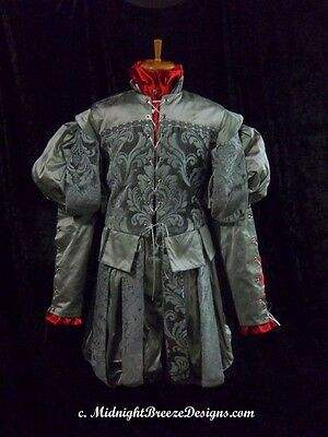 MADE TO ORDER Mens Silk Renaissance Costume Suit - Your Size Doublet and Slops