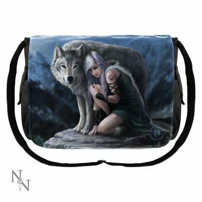 Nemesis Now - Wolf Protector Messenger Bag by Anne Stokes