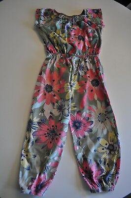 Girls size 4-5 Jumpsuit Floral cute for Summer
