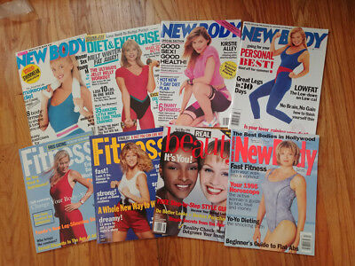 SEXY RARE lot 8 1990s New Body fitness beauty (Shape magazine) swimsuits bikinis