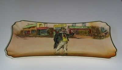 """Royal Doulton Dickens Ware """"cap'n Cuttle"""" D6327 Oblong Tray ~ Excellent"""