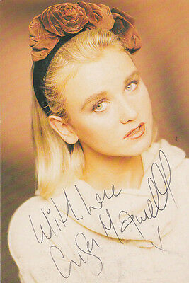 Lisa Maxwell ITV The Bill Vintage Hand Signed Glamour Publicity Card Photo