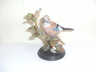 A Lovely Country Artists Model of a Jay with Acorns, Boxed, Broadway Birds