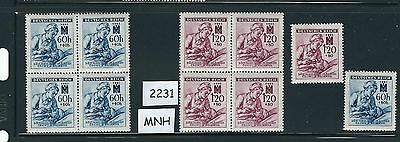 ONLY $2.99 per set!   1942 Stamp Mint set / Nurse & wounded Soldier / MNH stamps