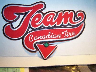 """Vintage Jacket Size """"Team Canadian Tire"""" Iron-on/Sew-on Red & Black Logo Voyager"""