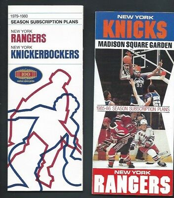N.y. Rangers Ticket Brochure  Schedule Lot