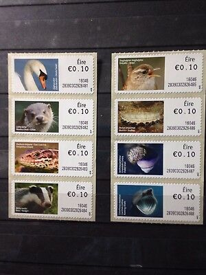 "Ireland Fifth ""wildlife"" Atm Issues All Mint As Per Scan"
