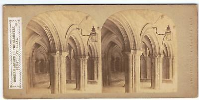 Stereoview - No 313 Norman Arches In The Cloisters Bristol Cathedral Sedgfield