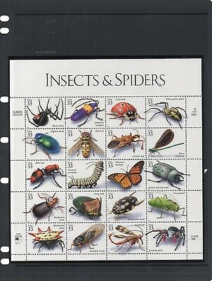 USA - Non Hinged Mint Sheet - Sc 3351 - Insects and Spiders