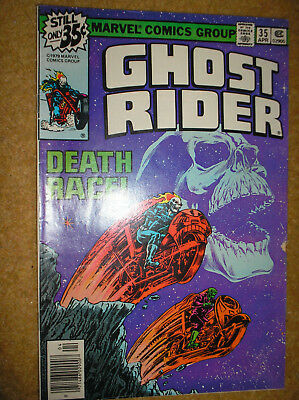 GHOST RIDER # 35 JIM STARLIN DEATHRACE! 35c 1979 BRONZE AGE MARVEL COMIC BOOK