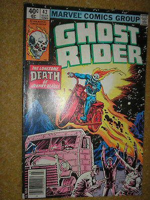 GHOST RIDER # 42 NEWSSTAND VARIANT PERLIN 40c 1980 BRONZE AGE MARVEL COMIC BOOK