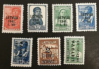 LATVIA, Scott #1N-14- 1N-19. (1941), MLH Russian, ST-605