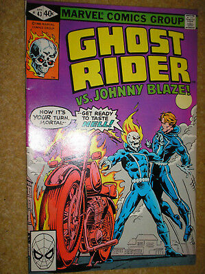 GHOST RIDER # 43 CARMINE INFANTINO ART 40c 1980 BRONZE AGE MARVEL COMIC BOOK