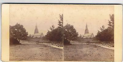 Stereoview - St Mary's Ambleside Church , Lake District , By Brunskill