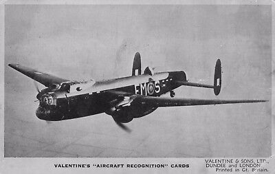 Avro Manchester - recognition card