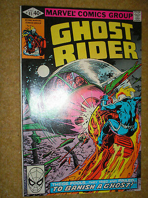 GHOST RIDER # 45 MIKE FLEISHER DON PERLIN 40c 1980 BRONZE AGE MARVEL COMIC BOOK