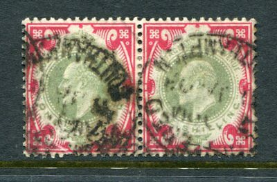 GB KEVII 1902 1 Shilling Used PAIR cat £80