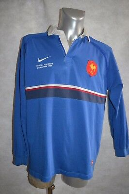 Maillot  Nike Equipe De France Australie 1999 Rugby Polo  Taille Xl Be Jersey