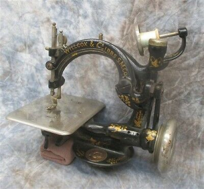 Early 1900s Willcox & Gibbs Sewing Machine Serial A678954 Pulley Driven Antique