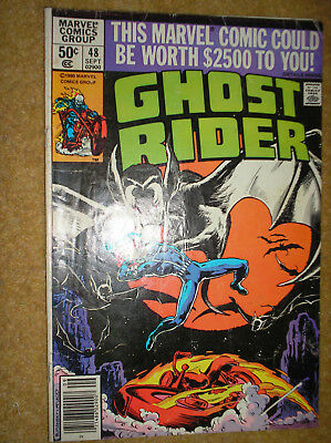 GHOST RIDER # 48 DON PERLIN NEWSSTAND VARIANT 50c BRONZE AGE MARVEL COMIC BOOK