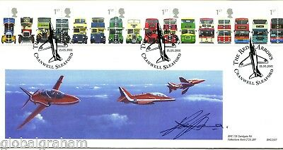 2001 Buses Great Britain Bhc Official Fdc Signed Raf Red Arrows Ray Hanna