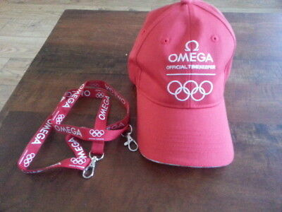 Omega Olympic Games Official Timekeepers Baseball Hat & Lanyard Unused
