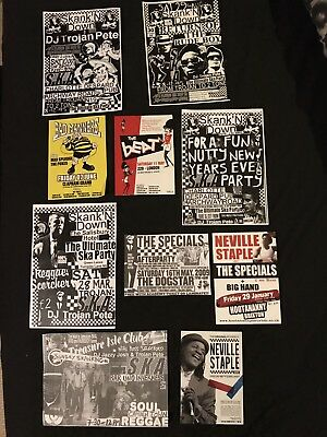 10 ska flyers/ Specials/madness/ the beat/ bad manners