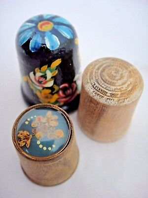 Three Lovely Wooden Thimbles