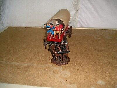 1:32 BRITAINS - ORIGINAL REAL CANVAS COVERED WAGON  - WITH DRIVER and CO-DRIVER