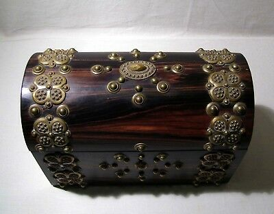 Jewelry Box - Letter - Trinket - Heavily Decorated - Victorian C:1890 - Antique