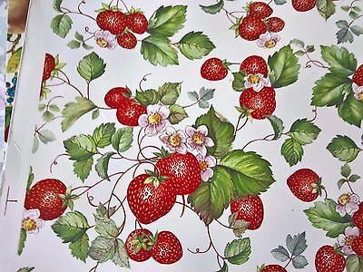 Ceramic Waterslide Transfer Small Sheet Strawberries
