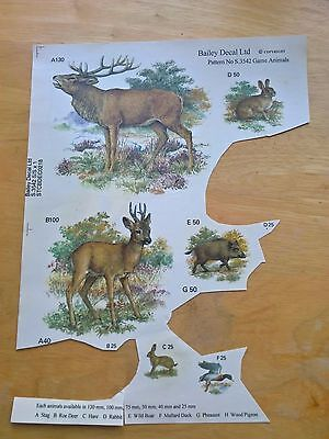 Ceramic Waterslide Decals Forest Animals