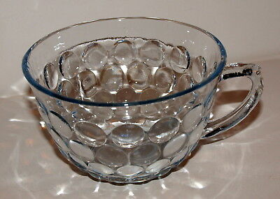 Depression Glass Cup Blue BUBBLE Anchor Hocking