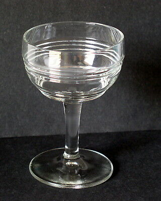 Anchor Hocking BANDED RING liqueur Cordial Cocktail Clear Glass