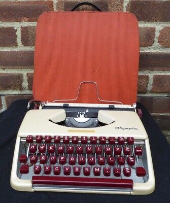 Vintage Olympia Portable Typewriter & Case Made In West Germany