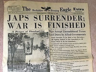 August 14, 1945 Berkshire (evening) Eagle - Japanese Surrender WWII