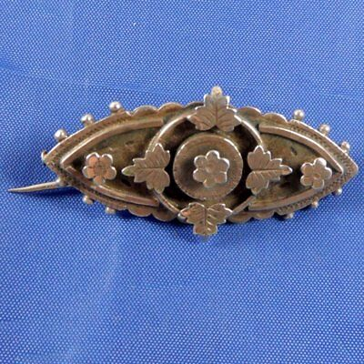 Stunning Antique Beaded Edge Silver Sweet Heart Brooch By S&g