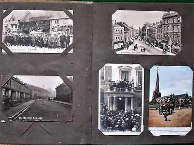 Collection 110 Antique Postcards of Somerset Edwardian to 1930s In Album Topo RP