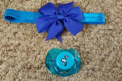 Reborn Baby's Customised Magnetic Dummy & Hairband, New!!  **view All Photos!!**