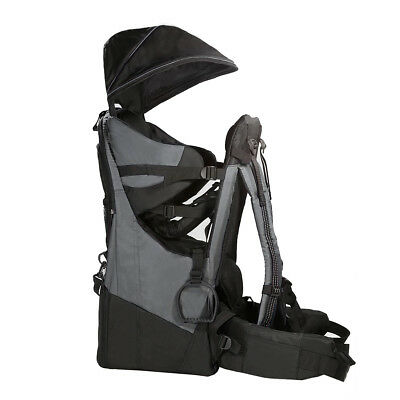 Deluxe Adjustable Baby Carrier Outdoor Light Hiking Child Backpack Camping, Grey