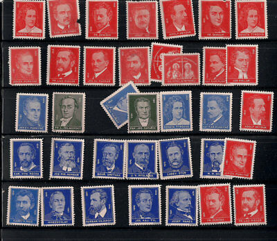 1933 Czechoslovakia heroes musicians writers poster stamps artist critic