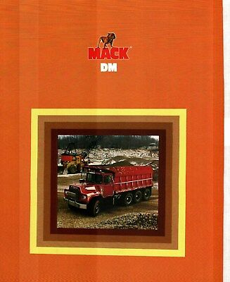 1980 Mack Dm Series Truck Deluxe Color Sales Catalog