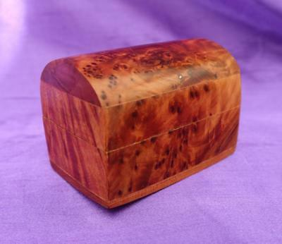 Vintage BURR WOOD TRINKET BOX / CHEST Nib / Desk Tidy / Jewellery / Gift Box