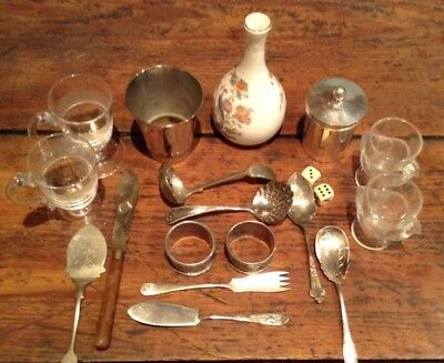 Great Job Lot of Glass, EPNS, Silver Plate and Wedgewood