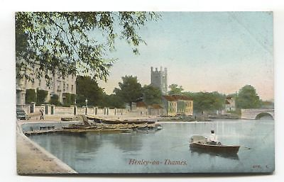 Henley-on-Thames - river, boat etc - early postcard