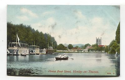 Henley-on-Thames - House Boat Street - early postcard
