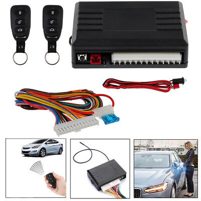 Universal Car 2 Remote Central Kit DT Vehicle System Keyless Entry Door Lock