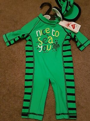 BNWT M&S Marks & Spencer's Baby Boys UV Sun Swimming Set Outfit 3-6 Months
