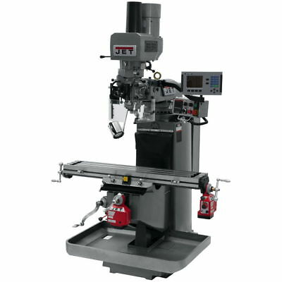 Jet 690523 JTM-949EVS Mill w/ Acu-Rite 200S DRO, X & Y Pwrfeeds, Air Powered Dra